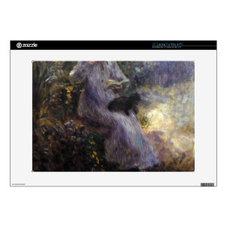 Woman with a black dog by Pierre Renoir Laptop Skins