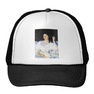 Woman with a Black Pet Cat Trucker Hat