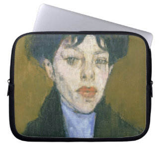 Woman with a Blue Scarf, c.1912 (oil on canvas) Computer Sleeve