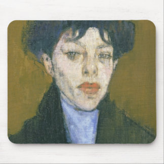 Woman with a Blue Scarf, c.1912 (oil on canvas) Mouse Pad