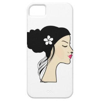 woman with a bun iPhone SE/5/5s case