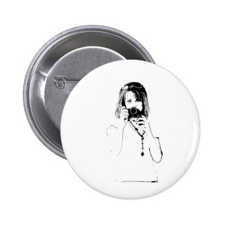 woman with a camera button