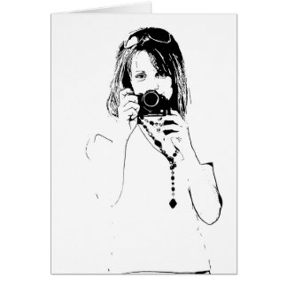 woman with a camera card