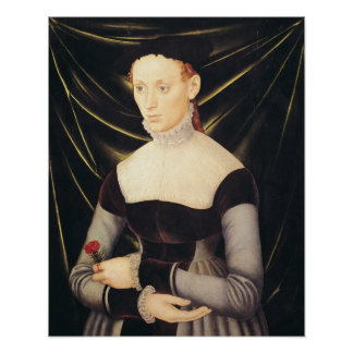 Woman with a Carnation Poster
