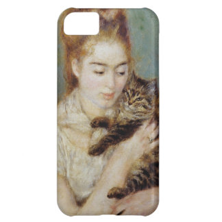 <Woman with a Cat> by Pierre-Auguste Renoir Cover For iPhone 5C