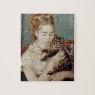 Woman with a Cat by Pierre-Auguste Renoir Jigsaw Puzzle