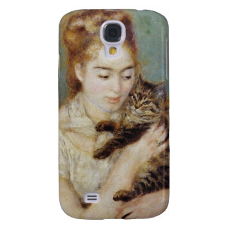 Woman with a Cat by Pierre-Auguste Renoir Samsung Galaxy S4 Case