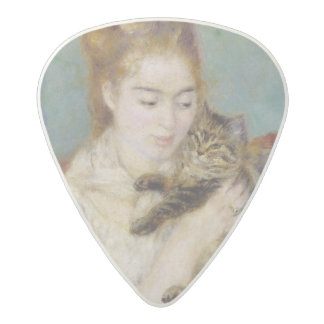 Woman with a Cat, c.1875 (oil on canvas) 2 Acetal Guitar Pick
