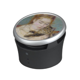 Woman with a Cat, c.1875 (oil on canvas) 2 Bluetooth Speaker