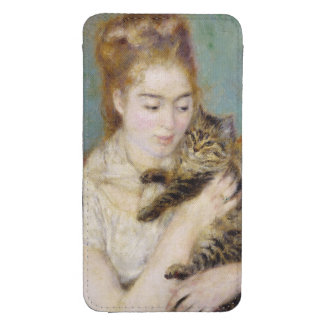 Woman with a Cat, c.1875 (oil on canvas) 2 Galaxy S4 Pouch