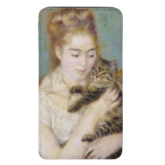 Woman with a Cat, c.1875 (oil on canvas) 2 Galaxy S5 Pouch