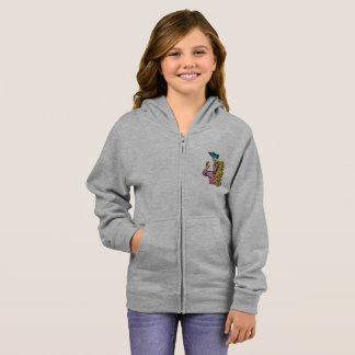 Woman With A Crayon Girls Hoodie