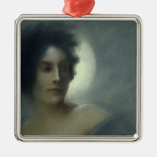 Woman with a Crescent Moon or, The Eclipse, 1888 Metal Ornament