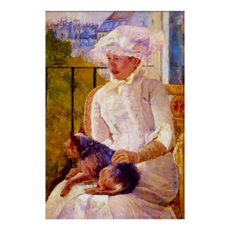 Woman with a Dog by Mary Stevenson Cassatt Poster