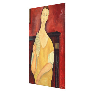 Woman with a Fan  1919 Canvas Print