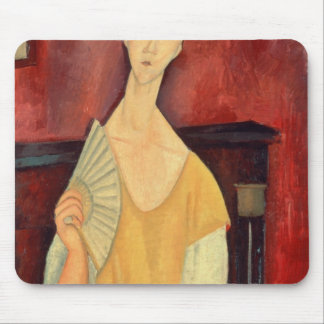 Woman with a Fan  1919 Mouse Pad