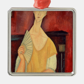 Woman with a Fan  1919 Christmas Tree Ornament