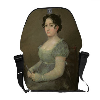 Woman with a Fan, c.1805-06 (oil on canvas) Messenger Bag