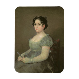 Woman with a Fan, c.1805-06 (oil on canvas) Rectangle Magnet