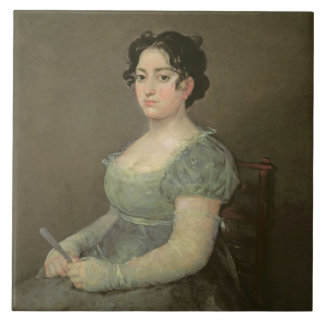 Woman with a Fan, c.1805-06 (oil on canvas) Tile