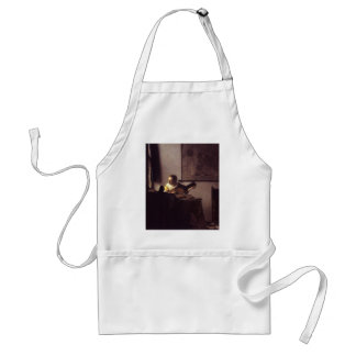 Woman with a Lute Adult Apron