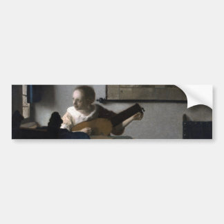 Woman with a Lute by Johannes Vermeer Bumper Sticker