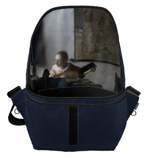 Woman with a Lute by Johannes Vermeer Courier Bag
