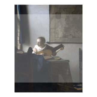 Woman with a Lute by Johannes Vermeer Flyer Design