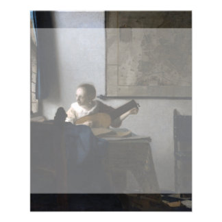 Woman with a Lute by Johannes Vermeer Full Color Flyer