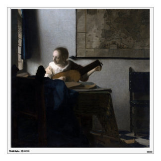 Woman with a Lute by Johannes Vermeer Wall Graphic