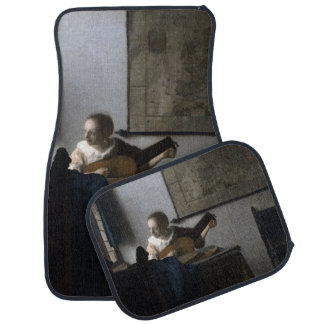 Woman with a Lute by Johannes Vermeer Floor Mat