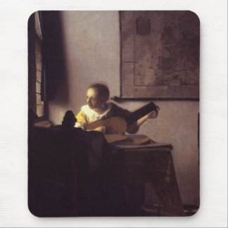 Woman with a Lute Mousepads