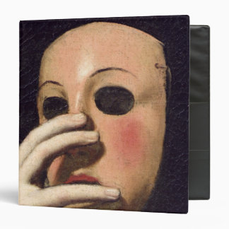 Woman with a Mask 3 Ring Binder