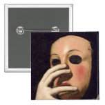 Woman with a Mask Pin