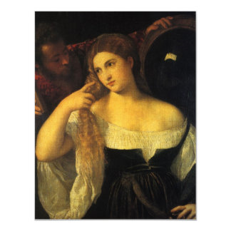 Woman with a Mirror by Titian Card