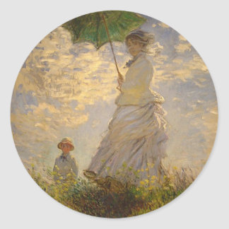 Woman with a Parasol, 1875 Sticker