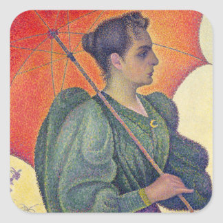 Woman with a Parasol, 1893 Square Sticker