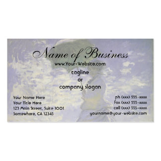 Woman with a Parasol by Claude Monet Double-Sided Standard Business Cards (Pack Of 100)