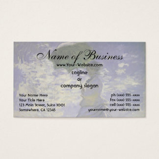 Woman with a Parasol by Claude Monet Business Card