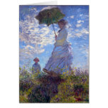 Woman with a Parasol by Claude Monet Cards
