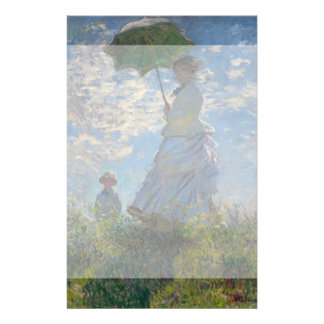 Woman with a Parasol by Claude Monet Flyer