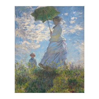 Woman with a Parasol by Claude Monet GalleryHD Canvas Print