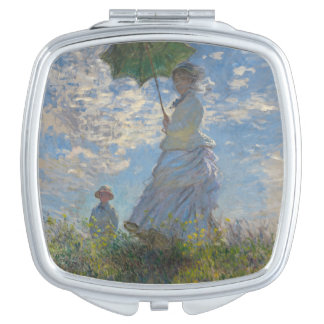 Woman with a Parasol by Claude Monet Makeup Mirror