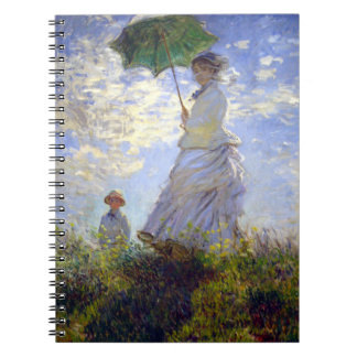 Woman with a Parasol by Claude Monet Notebook