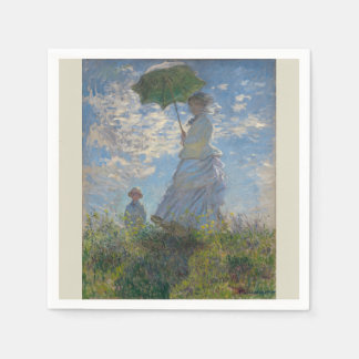 Woman with a Parasol by Claude Monet Paper Napkin