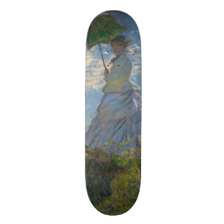 Woman with a Parasol by Claude Monet Skateboard