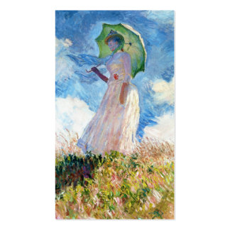 Woman with a Parasol Claude Monet art Double-Sided Standard Business Cards (Pack Of 100)
