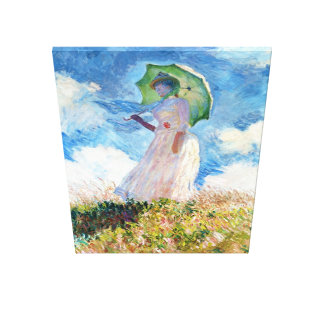 Woman with a Parasol  Claude Monet Stretched Canvas Print