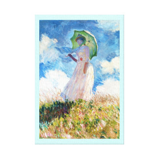 Woman with a Parasol  Claude Monet Gallery Wrapped Canvas