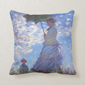 Woman with a Parasol Claude Monet Fine Art Pillow
